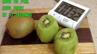 How To Peel A Kiwi Fruit In 32 Seconds Handy Hint Cheekyricho