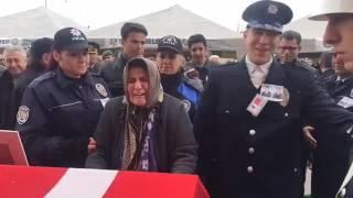 Şehit Polisler için Nazilli Emniyet Müdürlüğü'nde tören