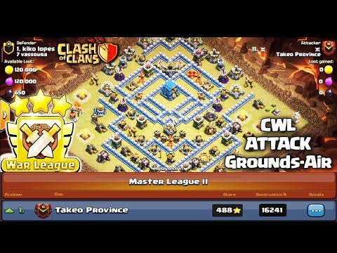 New CWL Attack 3 Stars TH12 - Best Clan War League Attack Grounds & Air in Clash of Clans