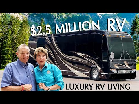 RV Living Tour Of Crazy Expensive $2.5 Million Luxury RV From Marathon Coach