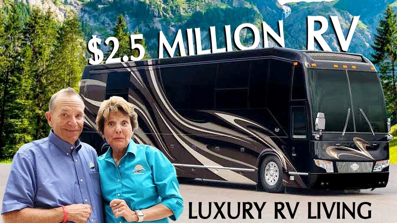 Full tour inside a 2 5 million dollar rv download for Million dollar motor coaches