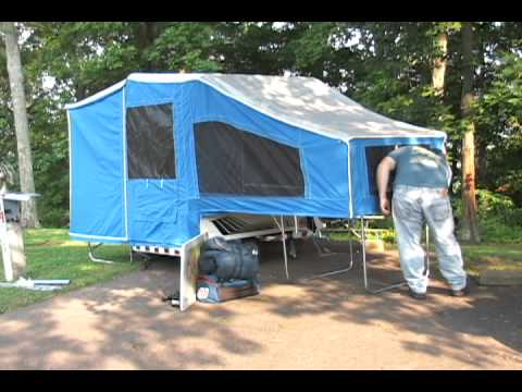 Small Camping Trailers For Sale >> Time Out Motorcycle Camper Setup - YouTube