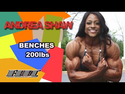 Woman Bodybuilder Andrea Shaw – benches 200lbs