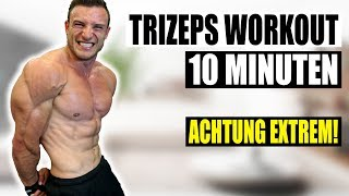 10 Minuten Trizeps Workout für Zuhause | Kombinationsworkout für Qualitätsmuskulatur - Sascha Huber