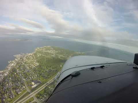 Mackinac Island Landing Runway 8 (3,501ft. x 75ft.) elev. 741ft. (GoPro 3+)
