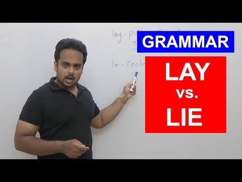 LAY vs LIE - English Grammar Explained