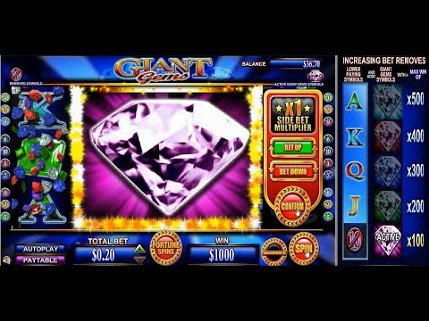 Vegas Jackpots.William Hill Casino game.Giant Gems slot.Big Win.