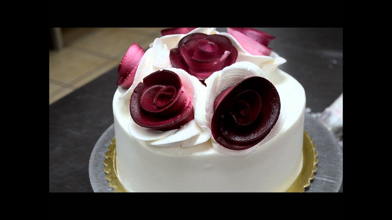 How to make Cream flowers for a cake YouTube