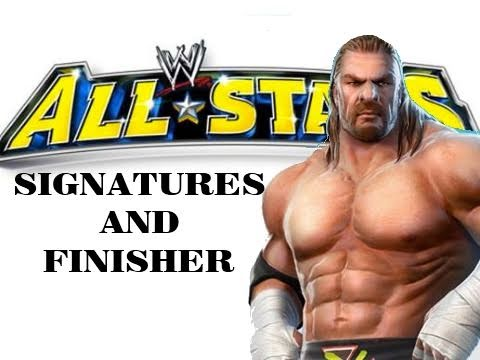 Triple H / HHH Signatures And Finisher - WWE All Stars