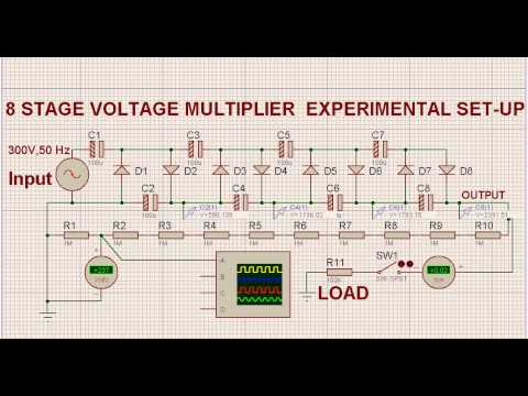 Voltage Multiplier from AC supply to high voltage DC