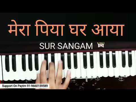 Mera Piya Ghar Aaya I How to Play On Harmonium I Yaraana I Bollywood Song I Madhuri Dixit