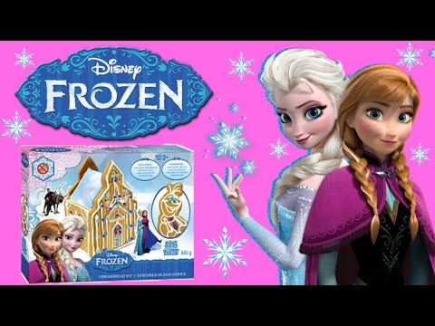 Disney Frozen GingerBread Castle Craft Kit And Disney Frozen Blind Bag Toys - Ginger Bread House