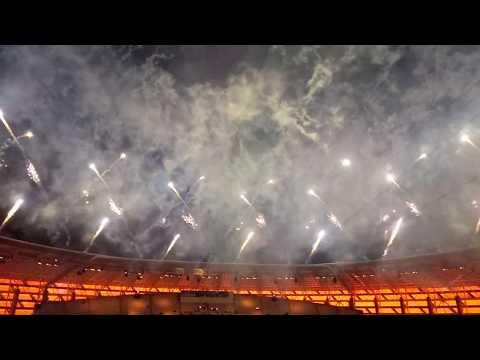 Baku 2017 Islamic Solidarity Games closing ceremony fireworks HD Феерверк на закрытии исламских игр