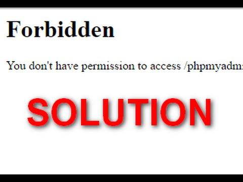 Solution du problème Wamp server: You don't have permission to access phpmyadmin on this server
