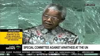 Mandela speech at UN General Assembly on 22 June 1990
