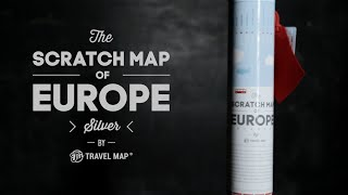 Travel Map Silver Europe / Скретч карта Европы Travel Map