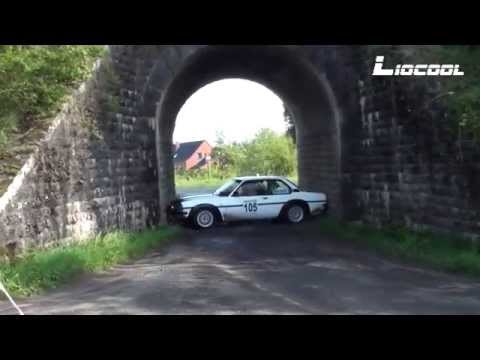 Shit Happens! Opel Rally Gets Stuck In A Tunnel! Historic Rally Festival 2015 - Spins and Mistakes