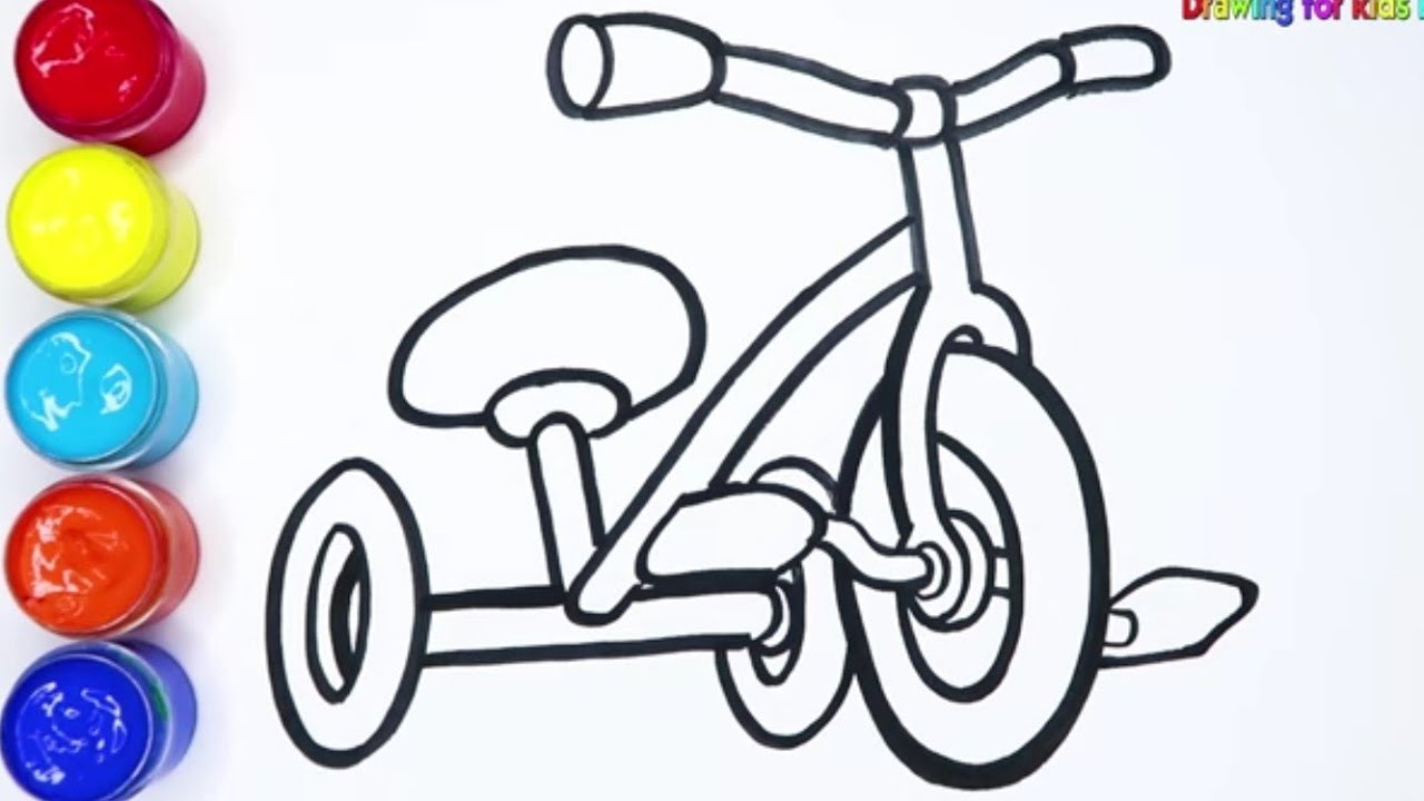 Tricycle Coloring Page - Twisty Noodle | 720x1280