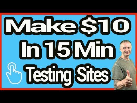 Earn $10 In 15 Minutes - Make Money Testing Websites (Easy)