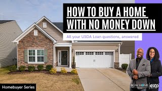 How to buy a home with NO MONEY DOWN   USDA Loan Explained