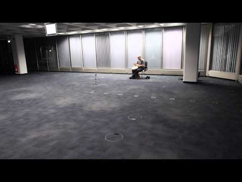 Freestyle Djembe in a huge empty office room