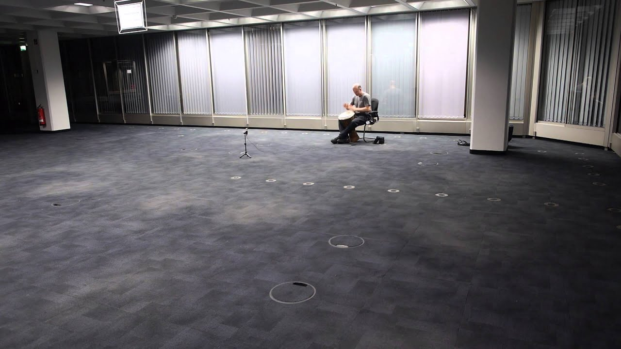 Freestyle Djembe in a huge empty office room - YouTube