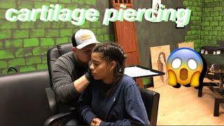Getting my Cartilage pierced! | Azlia Williams