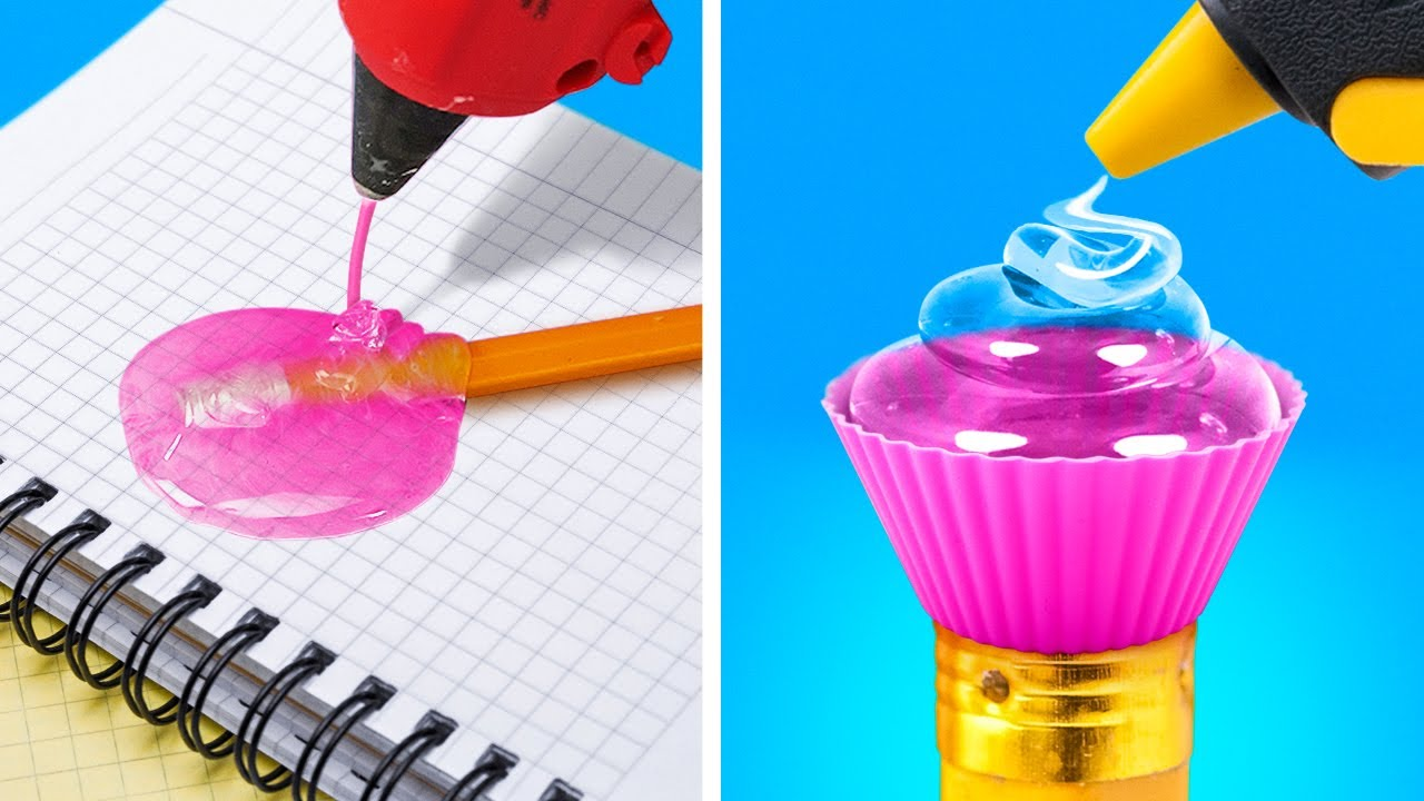 3D PEN CRAFTS || 20 Cool DIY School Supplies with Hot Glue Gun, Epoxy Resin