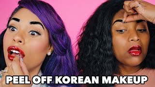 PEEL OFF LIP & EYEBROW TINT - TESTING OUT KOREAN BEAUTY PRODUCTS
