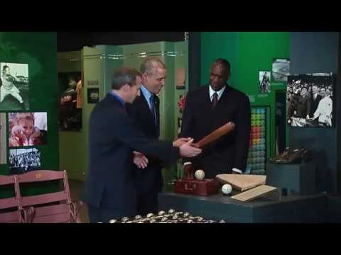 President Obama Tours the Baseball Hall of Fame