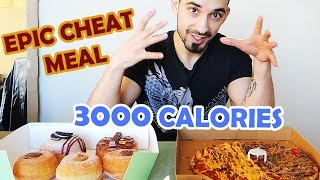 Repeat youtube video My Epic Cheat Meal - Peri Peri Pizza & Nutella Donuts - 3000 Calories