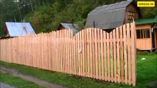 Как построить деревянный забор - veneso.ru(Любой кто просмотрит это видео поймет в общих чертах как построить деревянный забор и приготовить грибочки..., 2015-01-28T07:32:44.000Z)