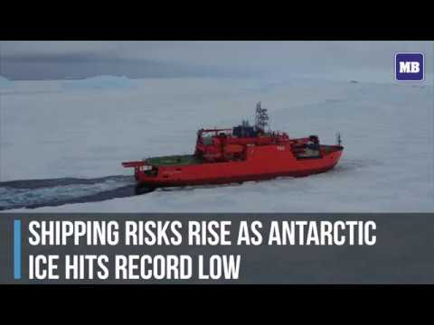 Shipping risks rise as Antarctic ice hits record low