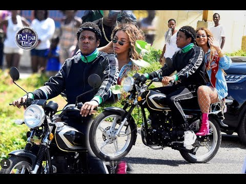 Beyonce and Jay Z in Jamaica shooting their music video