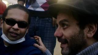 ليلى علوى وبعض الفناين فى ميدان التحرير فى جمعة ٢٢فبراير
