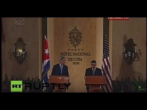 LIVE: Kerry and Cuban Foreign Minister Bruno Rodriguez hold press conference in Havana