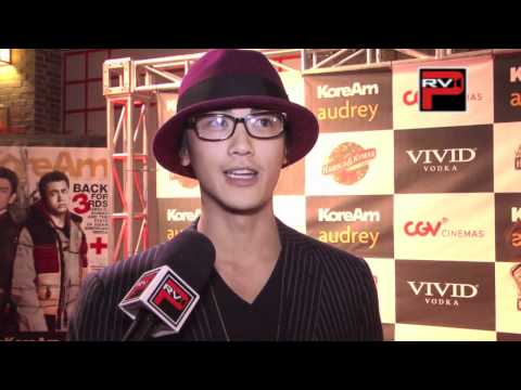 """Jin Akanishi interview at """" Very Harold and Kumar 3D Christmas"""" K-Town Premiere"""