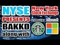 New York Stock Exchange (NYSE) HUGE NEWS! Microsoft & Starbucks