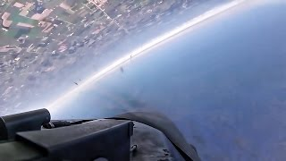 F-16D Fighting Falcon Takeoff & Inverted Roll • Cockpit View