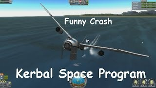 Kerbal Space Program funny crash with Cargoplane