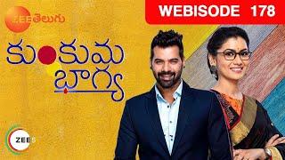 Kumkuma Bhagya | Telugu TV Serial | Webisode - EP 178 | Shabbir Ahluwalia, Sriti Jha | Zee Telugu