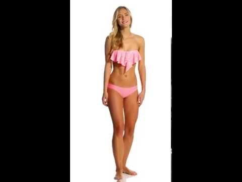 O'Neill Swimwear Jessa Ruffle Bandeau Bikini Top | SwimOutlet.com