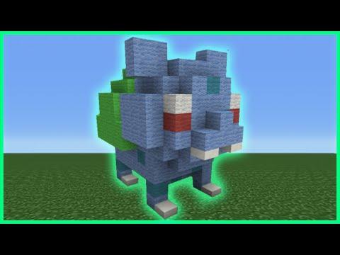 Minecraft Tutorial: How To Make A Mini Bulbasaur Plush Statue