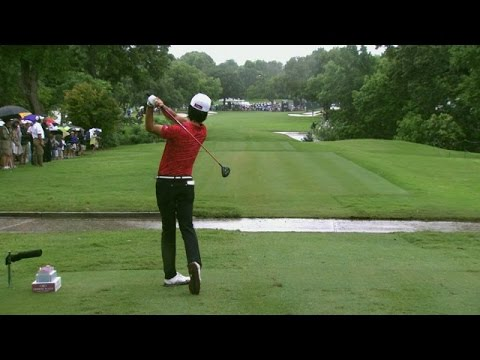 Kevin Na's slo-mo swing is analyzed at Crowne Plaza