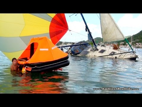 WTF was THAT!?! Sailboat Sinks in Simpson Bay Lagoon, St Martin, SXM CARIBBEAN