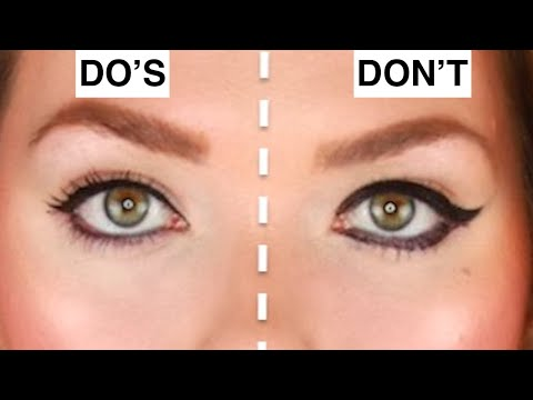 LIQUID EYELINER   DO'S & DON'TS   STOP MAKING THESE COMMON EYELINER MISTAKES TUTORIAL How to apply