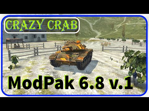 WoTBlitz // ModPak_6.8 By Crazy Crab