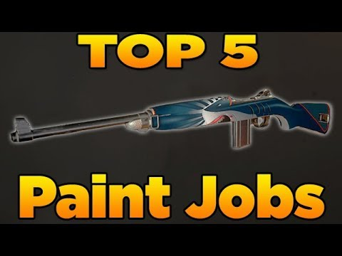 Top 5 Paint Jobs in Call of Duty WW2 (EP. 2 New Weapon Camos)