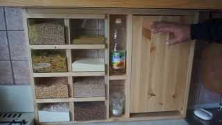 Сделал сам бюджетный шкаф на кухню(С минимальными затратами, с малым набором ручных инструментов, сделал за 3 дня. Расход - сосновые две обрезны..., 2015-01-10T19:26:38.000Z)