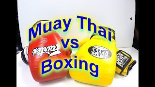 Boxing vs Muay Thai Gloves